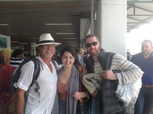 Arrivée de Laura Lee et Martin aéroport Hewanorra Sainte Lucie