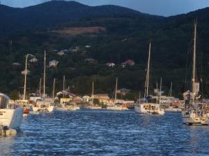 Vue du Galdi Baie de Deshaies, Guadeloupe