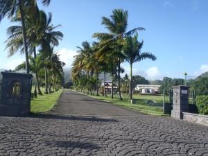 Entrée de la rhumerie Depaz Saint Pierre, Martinique