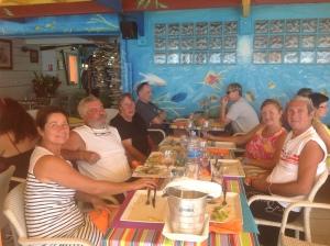 Marlène, Claude, Marie, Marie-Claire et Michel Restaurant L'Amer Deshaies, Guadeloupe